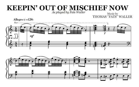 Keepin' Out Of Mischief Now (pdf), By Fats Waller