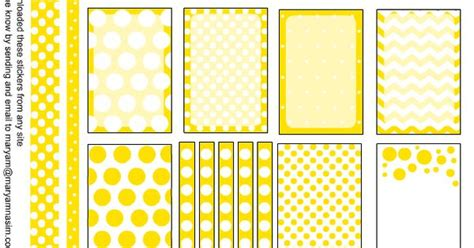 Free Printable Planner Stickers With Polka Dots In Lemon