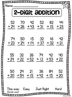 first grade math unit 13 for 2 digit addition and