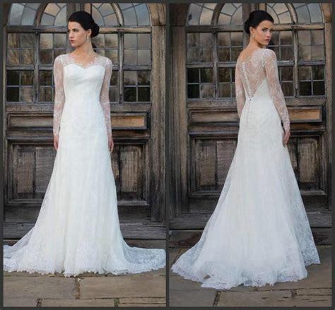 2016 amzing sleeve lace wedding dresses white fall