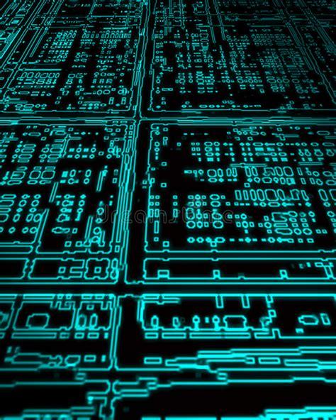Glowing Circuit Board Stock Photo Image