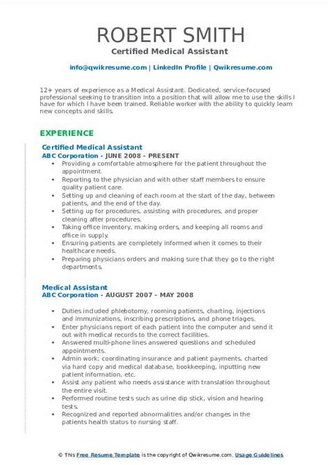 Certified Assistant Resume by Assistant Resume Sles Qwikresume