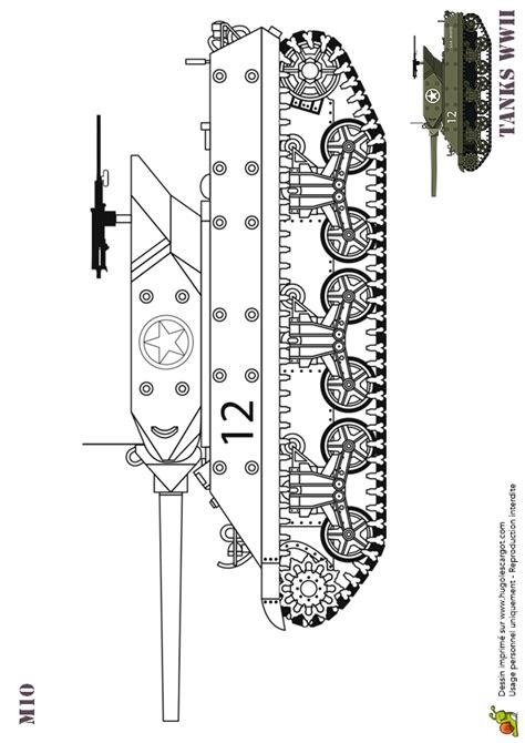 dessin  colorier tank americain ww