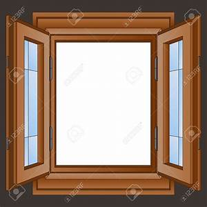 Window clipart wooden window - Pencil and in color window ...