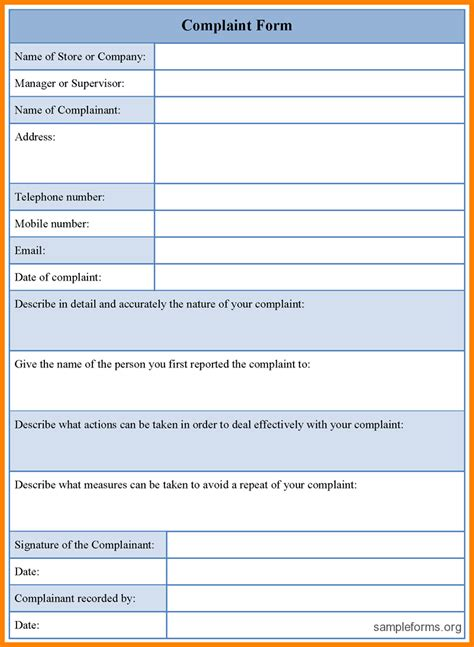 microsoft word form template 9 microsoft word complaint letter template ledger paper