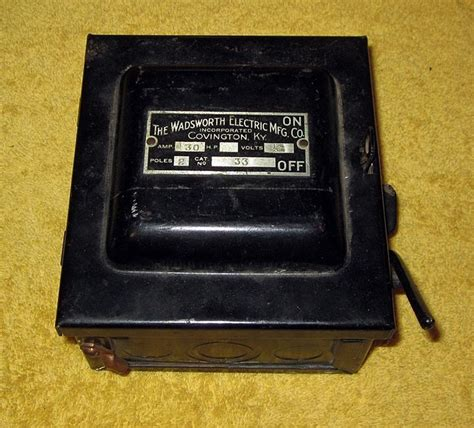 Vintage Wadsworth Fuse Box by Vintage Wadsworth Electric Mfg Co Covington Ky 30 Fuse