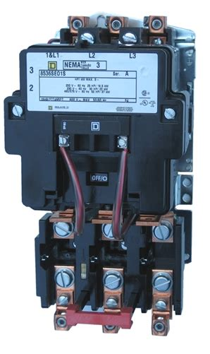 square d 8536seo1s size 3 nema starter with a melting alloy thermal overload relay