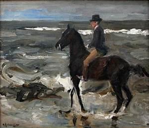 Rider on the Beach - Max Liebermann - WikiArt.org ...