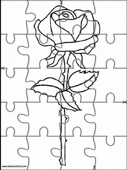 Puzzles Jigsaw Printable Coloring Pages Cut Printables