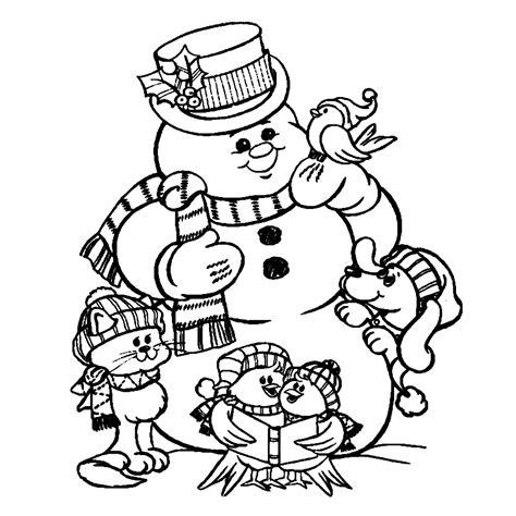 Kleurplaat Hoed Sneeuwman by Leuk Voor Sneeuwpop Met Dieren