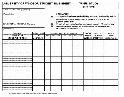 Time And Motion Study Template Costumepartyrun