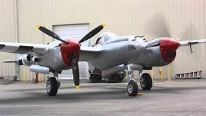 P-38 Lightning Engine Start