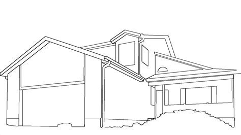 house drawing outline   datenlabor.info