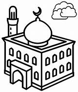 Mosque Coloring Pages Most Children sketch template