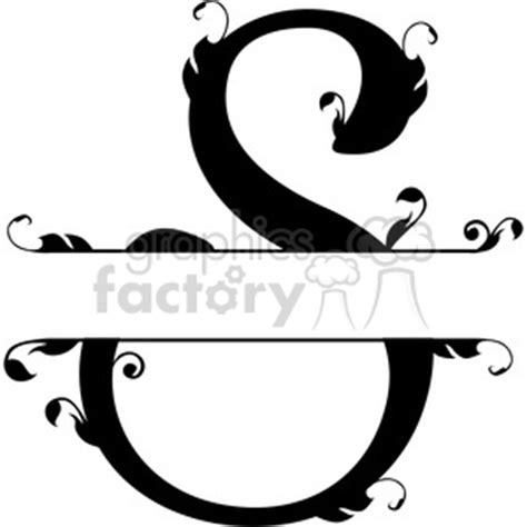 clip art letters split regal simple   related vector clipart images illustrations