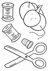 Sewing Colouring Coloring Pages Machine Drawing Para Quilting Tutorials Quilt Spools Thread Designs Basketful Books Moldes sketch template