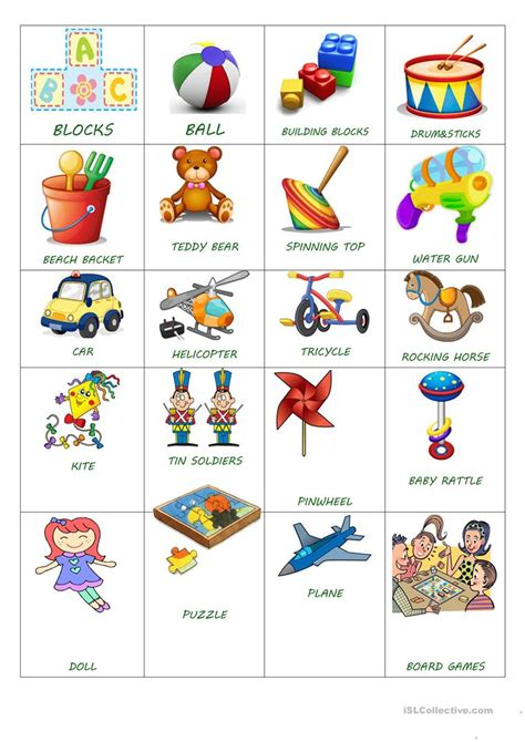 Toy Simple Flash Cards Worksheet  Free Esl Printable Worksheets Made By Teachers