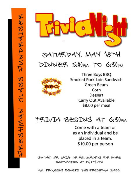 trivia night flyer templates south fork school district 14 trivia night