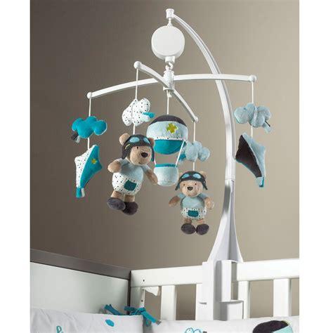 chambre sauthon bleu lazare mobile en tissu bleu de sauthon baby déco mobiles