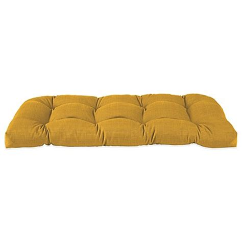 Yellow Settee by Outdoor Settee Cushion In Yellow Bed Bath Beyond