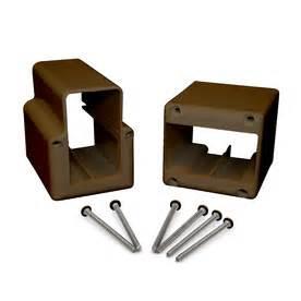 shop fiberon 2 pack deck rail bracket at lowes