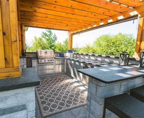 u shaped outdoor kitchen designs top 60 best outdoor kitchen ideas chef inspired backyard 8652