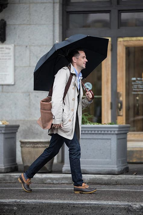 How To Dress For a Rainy Day - He Spoke Style