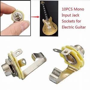 10pcs 1  4 U0026 39  U0026 39  6 35mm Mono Input Jack Socket Electric Guitar