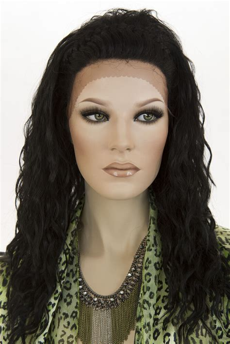 Black Brunettes by Black Lace Front Wavy Curly Braids Wigs Ebay