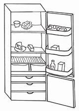 Coloring Refrigerator Pages Frigorifero Disegni Di Casa sketch template