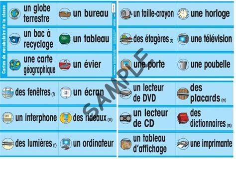 classroom sign cartes du vocabulaire de la classe p170 12 99 poster pals