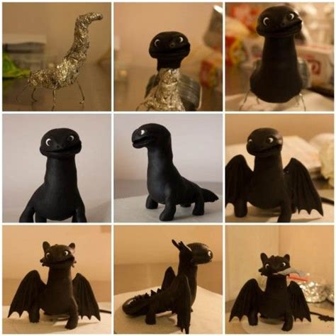 making   toothless cake figure