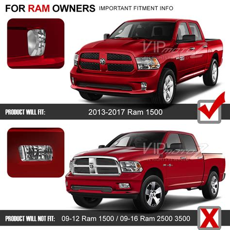 2013 2017 dodge ram 1500 left right bumper foglights w