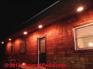 Exterior lighting installation inspection