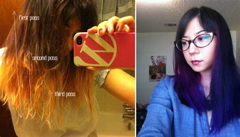 Diy Dyed Ombre Hair