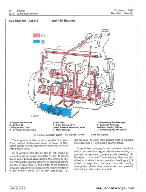 john deere combine  technical manual tm