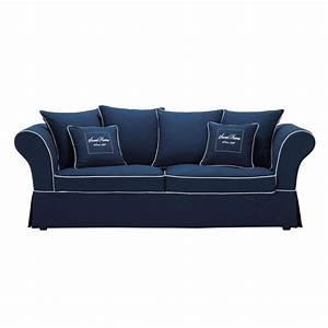 Sofa 4 Sitzer : sofa 3 4 sitzer aus baumwolle blau sweet home sweet home maisons du monde ~ Eleganceandgraceweddings.com Haus und Dekorationen