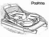 Pontoon Boat Coloring Clipart Drawing Motor Printable Clipground Preschoolers Library Coloringhome sketch template