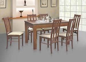 Esstisch Mit 6 Stühlen : essgruppe esstisch stl 63 1 mit 6 st hlen kt 10 holz nussbaum ~ Bigdaddyawards.com Haus und Dekorationen