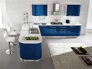 Einrichtung Kleine Küche : einrichtung k che mit blau wei hochglanz k chenm bel vpbridal inneneinrichtung inspiration ~ Sanjose-hotels-ca.com Haus und Dekorationen