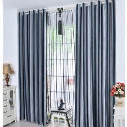 Navy And White Vertical Striped Curtains by Gardinen Grau