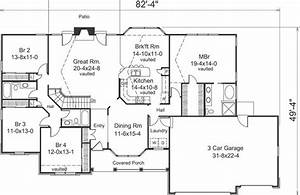 Luxury Four Bedroom Ranch House Plans - New Home Plans Design