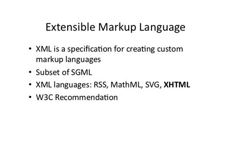extensible markup language tutorial introduction to xml xhtml and css