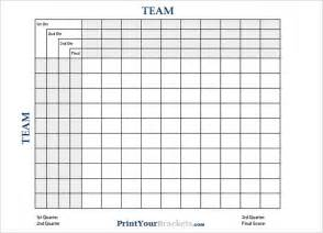 Bowl Pool Template Excel Printable Football Square Templates Pdf Creative Template