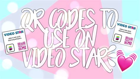 Qr Codes To Use On Video Star {how To Use+some Codes