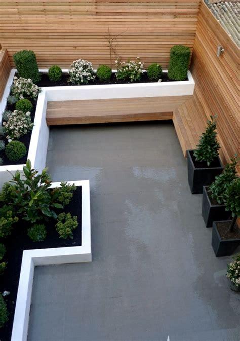 modern wooden garden bench fits  garden situation
