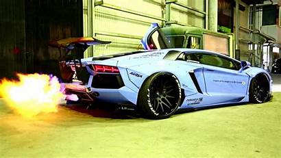 Lamborghini Flames Aventador Insane Liberty Wallpapers Walk
