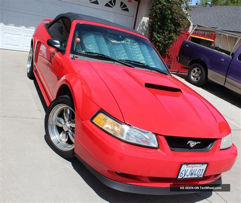 ford mustang gt convertible performance red