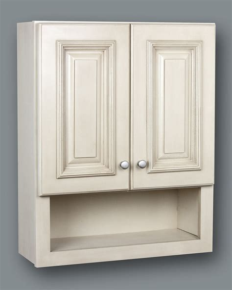 Bathroom Cabinets Wall by Antique White Bathroom Wall Cabinet With Shelf 21x26 Ebay