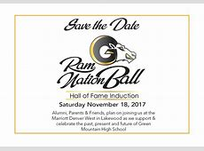 Hall Of FameRamNation Ball Green Mountain High School